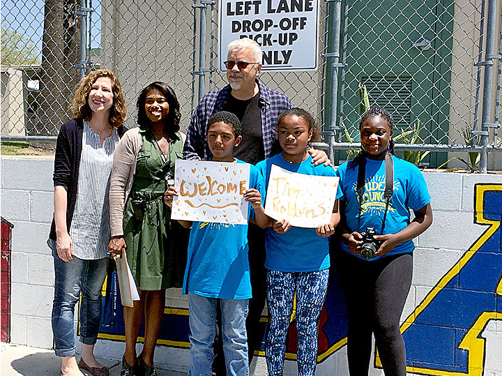 Actor Tim Robbins visits artsy school