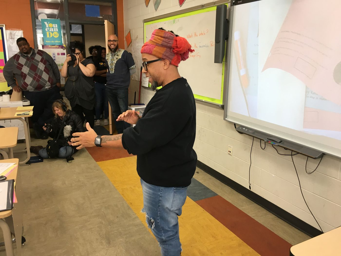 Rapper Speech visits MLK students with message of love, encouragement